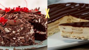 bolo floresta negra X torta alemã