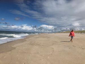caminhar na praia