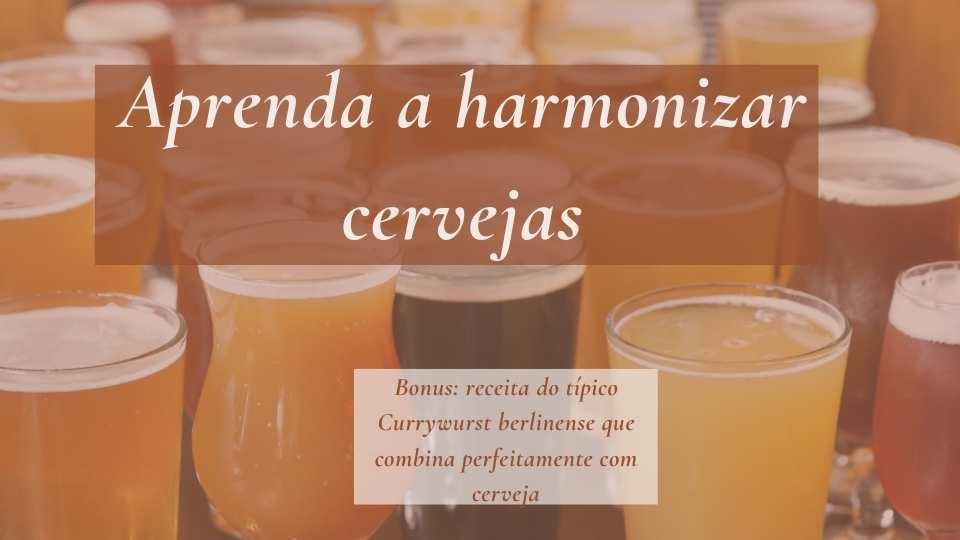 aprenda a harmonizar cervejas
